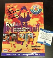 TOM OSBORNE SIGNED NEBRASKA 1998 Orange Bowl Program BECKETT WITNESS COA N68400