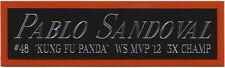 PABLO SANDOVAL GIANTS NAMEPLATE AUTOGRAPHED SIGNED BASEBALL-BAT-JERSEY-PHOTO