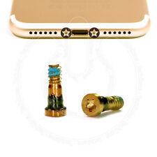 2 x Bottom Screws Pentalobe GOLD Screw set for Apple iPhone 7, iPhone 7 Plus
