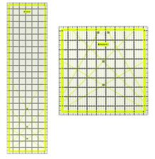 """Acrylic Quilting Quilter's Ruler Combo Pack of 2 - (24"""" x 6.5"""" and 9.5"""" x 9.5"""")"""