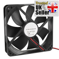 120mm x 25mm Sleeve Bearing 2Pin 12cm 12V Cooling Fan Computer Case - UK
