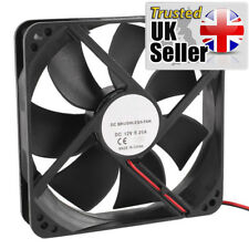 120 Mm x 25 mm cojinete de manga 2Pin 12 cm 12 V Carcasa computadora del ventilador de refrigeración-Reino Unido