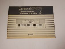Casio MT-205 Casiotone Keyboard Original User's Operating Owner's Manual MT205