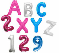 """LETTER & NUMBER 16"""" Air Fill FOIL BALLOON A-Z Any Age Name or Message 4 COLOURS"""