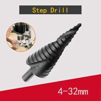 New Step Conical Cone Drill Bit Hole Cutter 4-32MM Titanium Nitride Coated