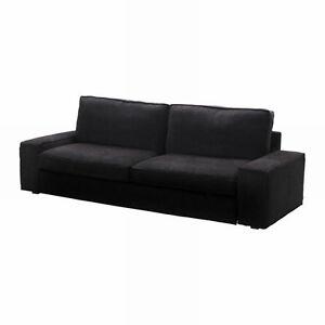 IKEA Kivik Sofa Bed SLIPCOVER Sofabed Cover TRANAS BLACK Tranås Corduroy