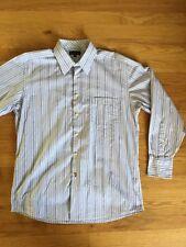Ben Sherman 16 32 Large Button Down Striped Shirt Mod Long Sleeve