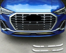 For Audi Q3 S line 2019 2020 Steel Car Front Bottom Grille Decoration Cover Trim