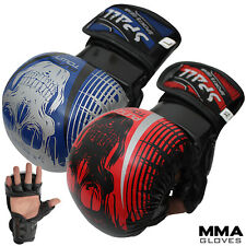 MMA Gloves Kick Boxing Quick Wrap Sparring Grappling Shooting Cage Fighting