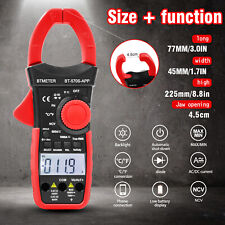 Digital Multimeter Dc Current Clamp Meter 6000 Counts Acdc Volt 1000a True Rms