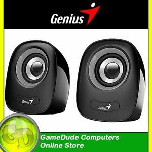 GENIUS SP-Q160 Gray/Black USB Powered Speakers - Volume Control - SP-Q160 [F33]