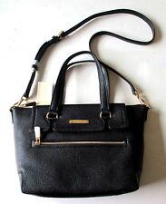 NWT Michael Kors MACKENZIE Medium TZ Top Zip Satchel Bag Black Leather $368 NEW