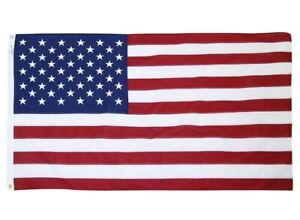 Vintage Valley Forge Best Cotton 5 x 9 1/2' American Flag Premium Quality Mint!