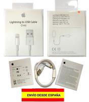 PRECINTADO! Cable cargador Lightning a USB iPhone 5/5S/5C/6/6S Plus iPad iPod