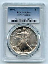 1992 $1 American Silver Eagle 1oz Dollar PCGS MS69