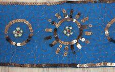 Vtg Style Embellished Bead Copper Sequin Cummerbund Belt Gypsy Boho Festival NEW