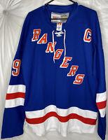 Vintage Hockey CCM New York Rangers Wayne Gretzky CaptainNHL Jersey Mens Size 50