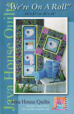 "Java House Quilts~""WE'RE ON A ROLL""~Bathroom Wall Hanging Quilts Project TP Roll"