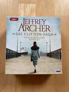 Die Clifton-Saga von Jeffrey Archer Hörbuch CD Gesamtausgabe Band 1-7 neuwertig