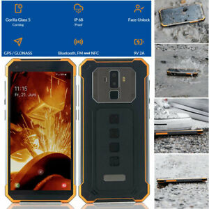Waterproof IP68 Smartphone 4G Android Rugged Builder Mobile Cell Phone NFC 64GB