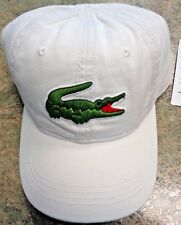 LACOSTE Mens Big Croc Gabardine Adjustable Cap Hat, PICK COLOR, Baseball Tennis