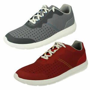 MENS CLOUDSTEPPERS CLARKS TORSET VIBE LACE UP CASUAL TRAINERS WALKING SHOES SIZE