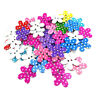 50Pcs/lot Flower Dot Wood Button 2 Holes Mixed Color Apparel Sewing DIY Gift