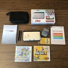 Silver Nintendo 3DS XL Mario and Luigi Dream Team Bundle ~ Case Games Pens Box