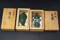 Japanese Brass Bronze Rabbit Takaoka Douki Paperweight BOS243 w/box
