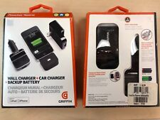Griffin PowerDuo Reserve Car/Wall Charger/Backup Battery iPhone 4S 4 3G 3GS iPod