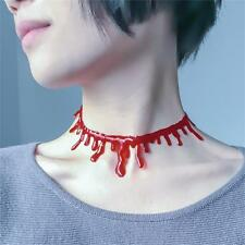 The Day Of Dead Gift Creative Red Blood Shape Tattoo Choker Necklace Party Girls