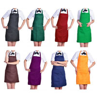GN- Plain Apron with Front Pocket for Chefs Butchers Kitchen Cooking Craft Bakin