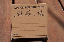 Rustic Advice Wedding Letterpress Coasters X 101