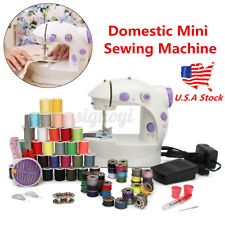 Household Hemline Mini Sewing Machine 2 Speed Clothes Stitch For Beginners US