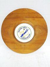 Vtg 1954 Li,Nysenior Golf ass. wood& porcelain wall charger award trophy plaque