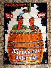 DICK UND DOOF - Rindviecher unter sich * A1-FILMPOSTER ´69 Laurel + Hardy