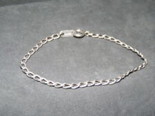 "Vintage Charles Winston~STER CW~Sterling Silver 2.5 mm 7"" Chain Link Bracelet"