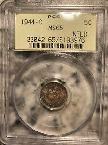 1944-C Newfoundland 5 Cents PCGS MS65