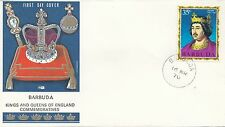 (86064) Barbuda Philart FDC Kings & Queens Henry I - 16 March 1970