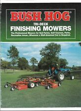 Original OEM OE Bush Hog Tri-Deck Finishing Mowers Sales Brochure