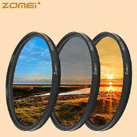 ZOMEI 52MM Graduated Gradual color ND grey blue orange filter Kit For Hoya Canon