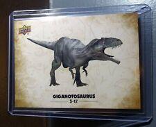 2015 Upper Deck Dinosaurs Giganotosaurus #S-12 Trading Sticker Card