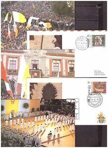 s20178) VATICANO Lotto FDC + Cartoline Viaggi Papa  x 50 (vedi scan x10)