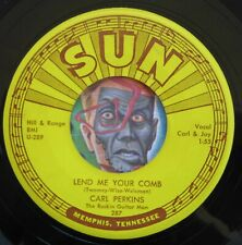HEAR Carl Perkins 45 Lend Me Your Comb/Glad All Over SUN 287 NM rockabilly
