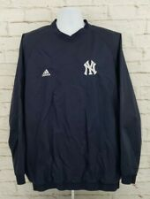 New York Yankees Adidas Mens Pullover Windbreaker Jacket XL MLB Baseball EUC
