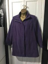 lovely purple coat from Eleganze size 20 wool look pea coat style