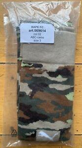 PUMA X Bape FC a Bathing Ape ABC Camo Socks Size 6-8 569614-02 New