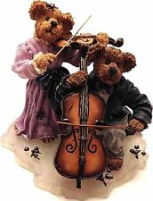 Boyds Bearstone Figurine Collection Amanda And Michael String Section