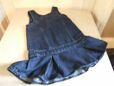 Delightful Sleeveless Little Girls' Denim Dress with a Bow Decor in front 4 Yrs