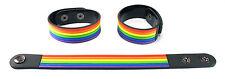 Rainbow  Rubber Bracelet Wristband rainbow gay pride lesbian lgbt aa234